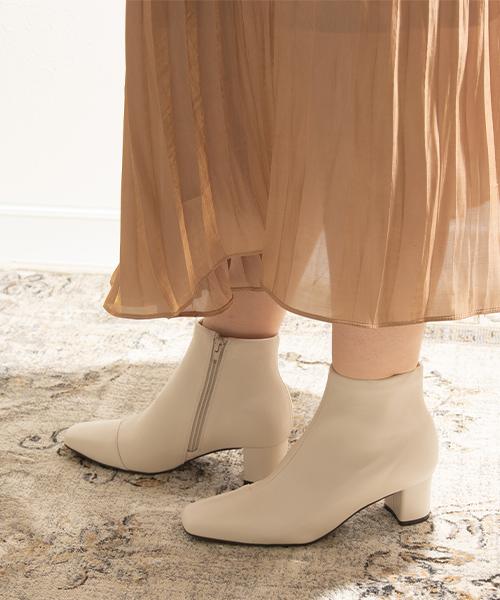 人氣款 時尚舒適方頭短筒靴/KC9511