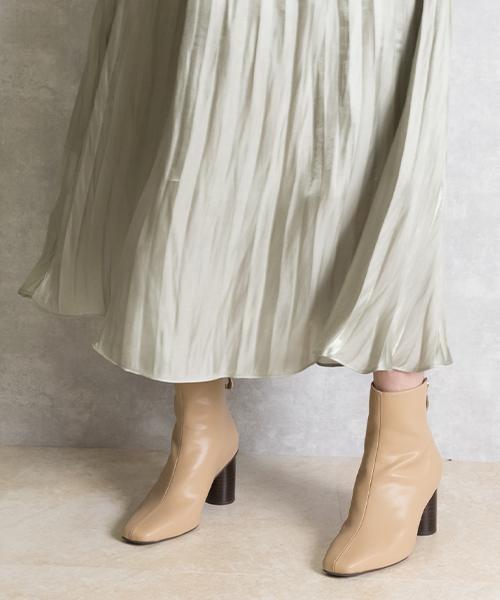 20AW目錄款 時尚造型拉鍊舒適高跟短靴/CC9577