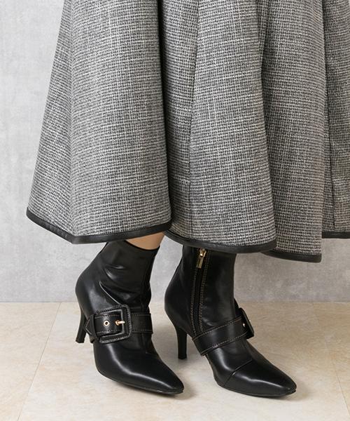2WAY 時尚柔軟舒適尖頭細跟靴/DC9575