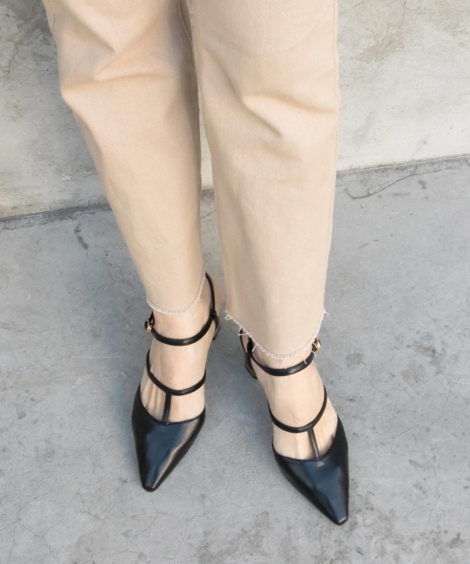 時尚T字金屬球造型跟鞋/ED10005