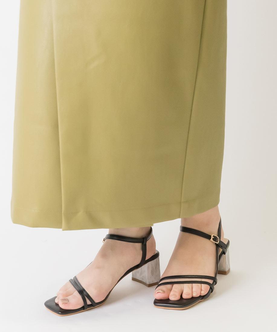 大理石紋跟方頭趾帶涼鞋/PS10082