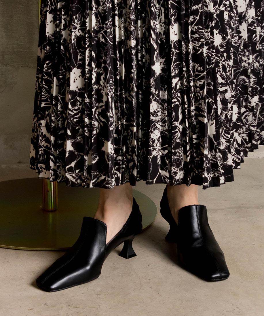 時尚造型縮口方頭跟鞋/CH10549