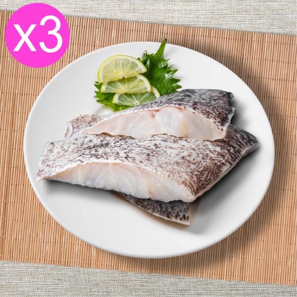 超值3入組【Hi-Q fresh】龍虎斑魚排(500g/2-4入/3包)