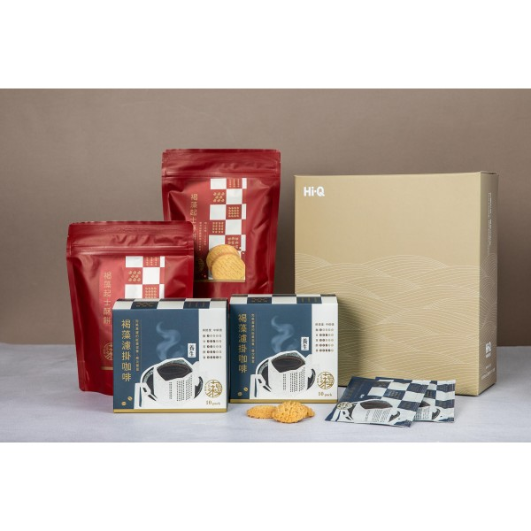 【Hi-Q fresh】午茶禮盒(咖啡2盒+餅乾2包)