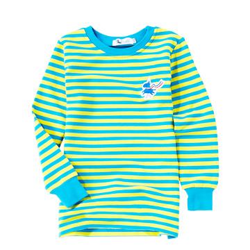 海軍藍-棉質舒適橫條長版衫