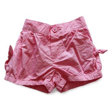 草莓粉蝴蝶結泡泡褲