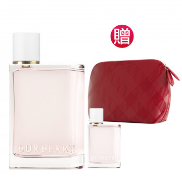Her女性淡香水100ml(贈)同款隨行香氛+英式優雅亮紅化妝包