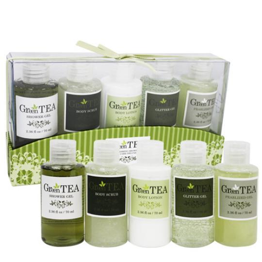 CASSARDI 清新綠茶身體沐浴護理禮盒(五件組)