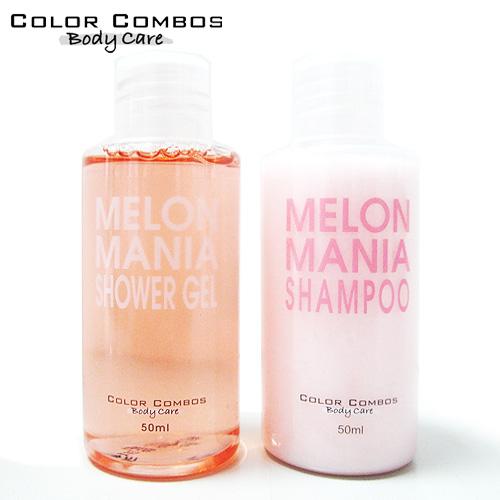 [獨家代理]COLOR COMBOS甜瓜旅行套組(沐浴+洗髮)
