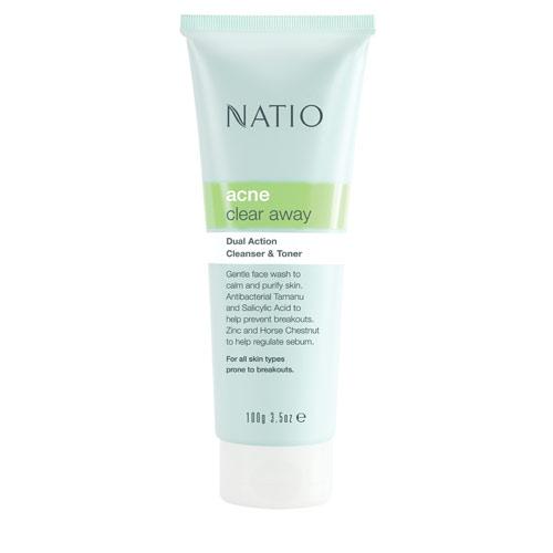 NATIO 淨油肌雙效潔面凝膠100g