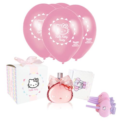 Hello Kitty 歡樂派對女性淡香水禮盒四件組