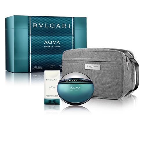 BVLGARI 寶格麗水能量香氛禮盒(100ml香水+75ml沐浴膠+盥洗包)