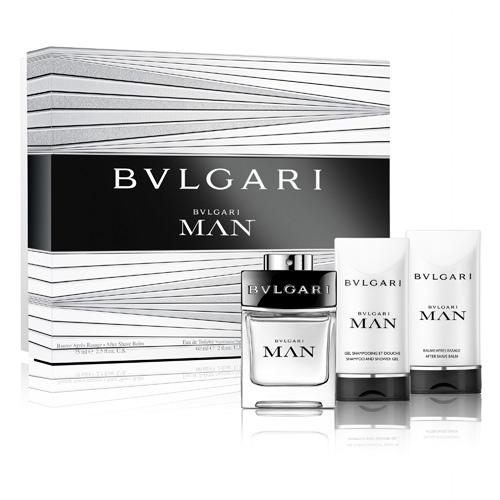 BVLGARI 寶格麗當代男香氛禮盒(60ml香水+75ml沐浴膠+75ml鬍後膏)