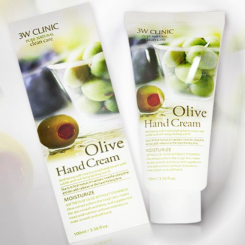 韓國3W CLINIC橄欖保溼柔潤護手乳100ml