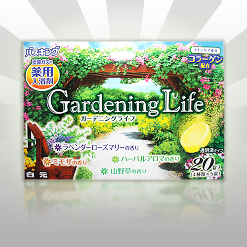 HAKUGEN 膠原滋潤發泡入浴劑/英式庭園