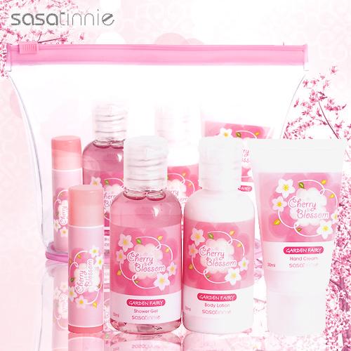 Sasatinnie 仙子樂園櫻花身體護理旅行四件組套裝
