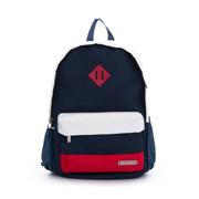 包款法式色調 多功能袋休閒後背包 - 白紅藍