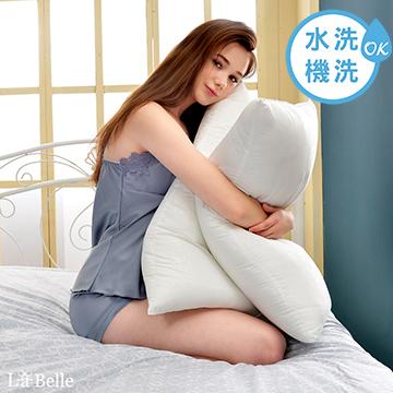 買1送1限定★義大利La Belle《超細纖維可水洗抑菌極致舒柔枕》