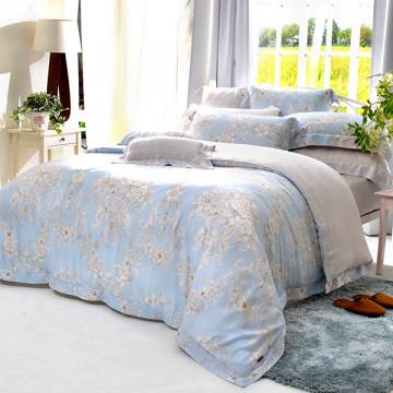 義大利La Belle 雙人天絲防蹣抗菌吸濕排汗兩用被床包組-芙娜利塔