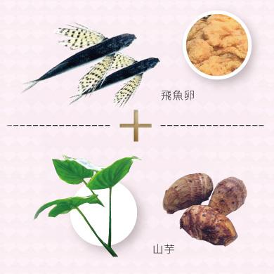 飛魚卵、山芋、山藥、煥顏極效、細緻膚觸、細嫩幼滑、醇厚滋養