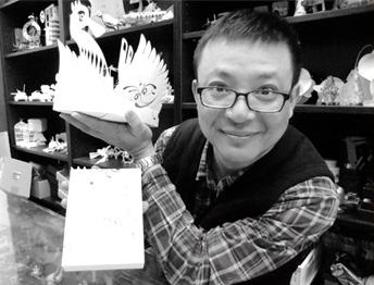 設計師洪新富Hung Hsin Fu-國寶紙雕大師-黑面琵鷺包裝盒