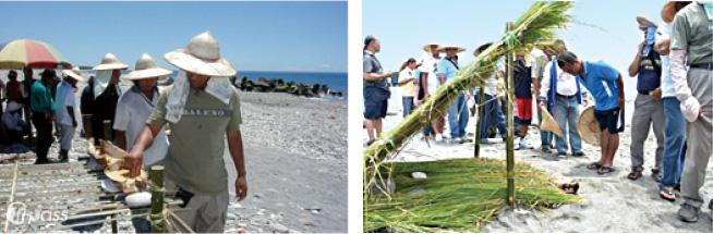 在 kapatan-ngawngaway (第四之首) 時期,到海灘上參加感恩海祭的男人們,手沾小米行獻祭之禮外,更要排隊向祖先 (棚中的兩顆石頭) 行禮。