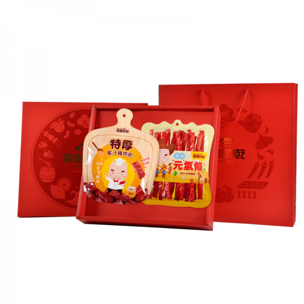 豪華雙饗★經典小禮盒【快車肉乾】豪華肉乾2入〔共2包入〕