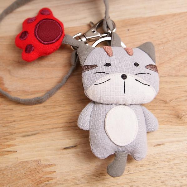 【221616】呆呆貓鑰匙圈/包包掛飾/吊飾/掛件/手勾繩