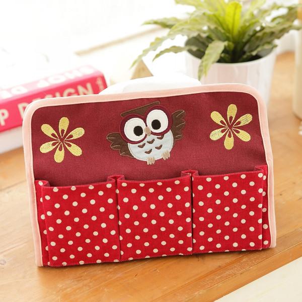 貓頭鷹 居家裝飾 桌上型面紙套/抽取式衛生紙套【230492】