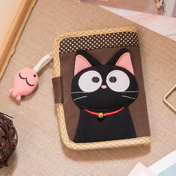 小黑貓 多卡層 拼布 識別證套/票卡夾【221837】