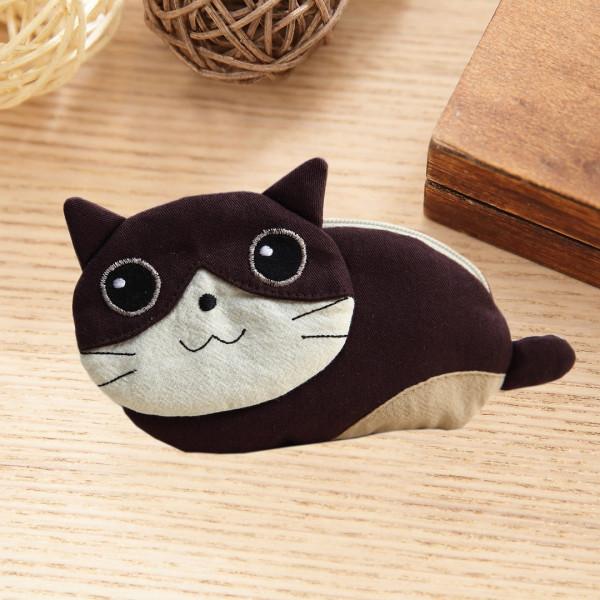 賓士貓 造型 拉鍊 小物收納包/零錢包【220869】