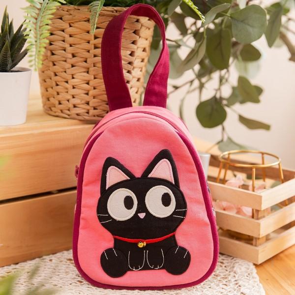 小黑貓 造型 拉鍊 手提/雜物包/化妝包【211008】
