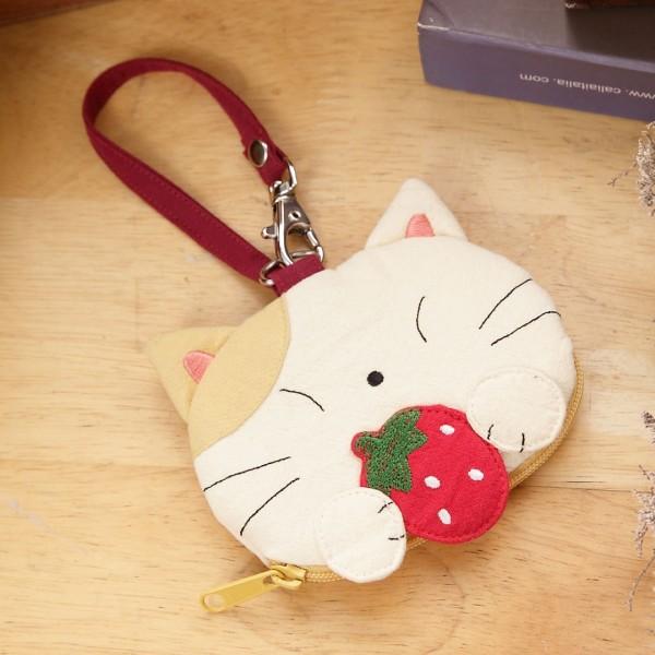Kiro貓造型 透明視窗識別證/零錢包/鑰匙收納包【222224】