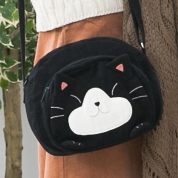 賓士貓 拼布包 多格層斜背包/散步包/相機包/輕便包【211068】
