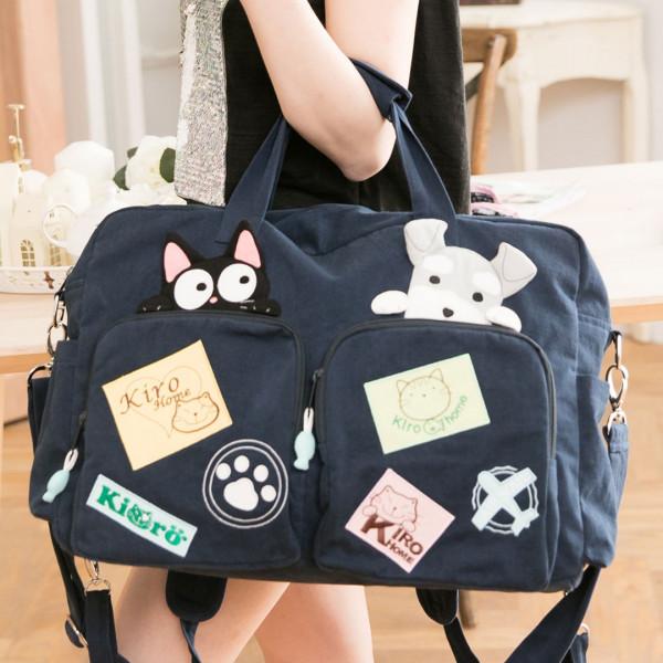 貓夥伴 大容量 手提/斜背/後背/旅行袋/三用包【211142】