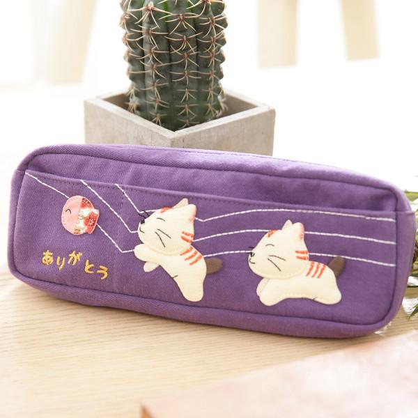 Kiro貓 拼布包化妝包/文具收納包/筆袋【222479】