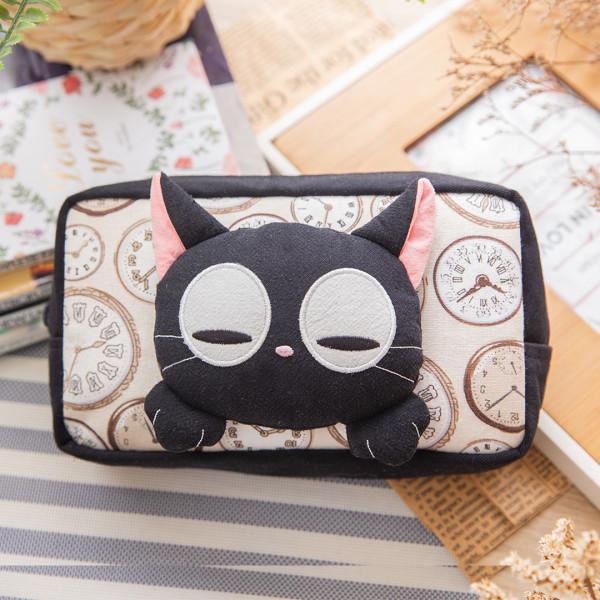 小黑貓 立體造型 拉鍊 化妝包/雜物收納包【222564】