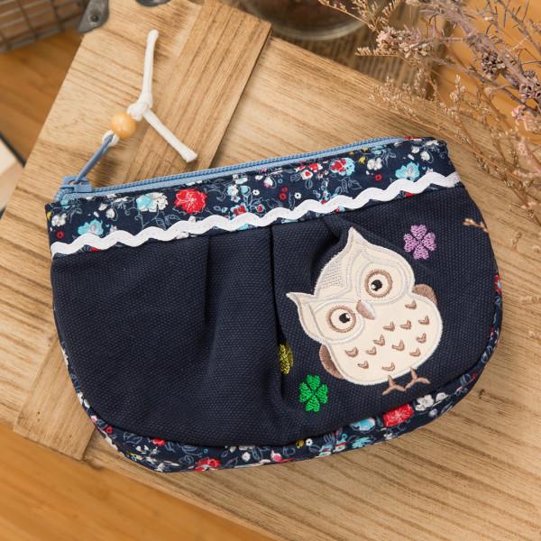 【ZB024】貓頭鷹化妝包/收納包/小物包/雜物包/3C收納包