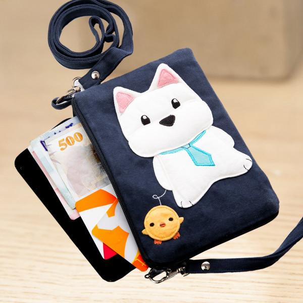 【222739】高地白梗手機包/收納包/5.5吋手機套/手機保護套