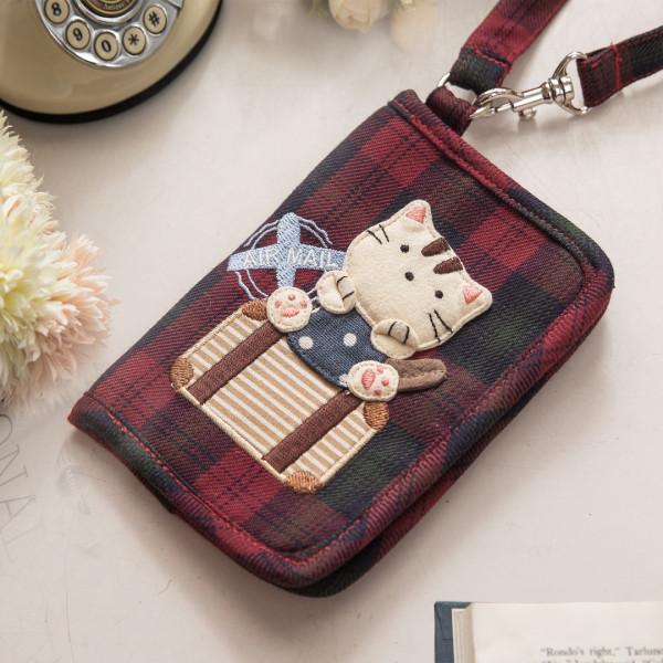 【222710】旅行小貓證件套/卡片包/卡套/證件包/3卡片位