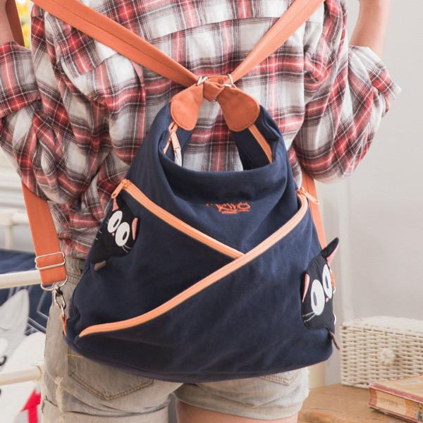 【211264】小黑貓三用包/斜背/肩背/後背/大容量旅行包