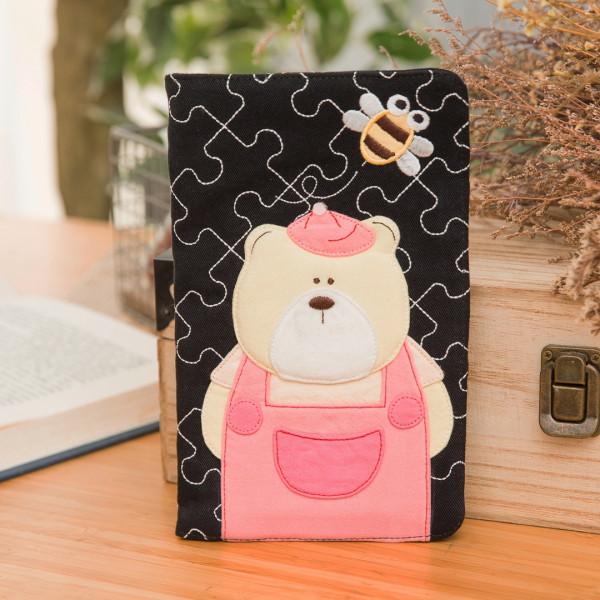 【222737】粉紅呆呆熊護照包/5.9吋手機包/卡片收納包/證件包