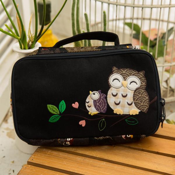 【222751】幸福貓頭鷹化妝包/收納包/雜物包/萬用包/旅行收納包