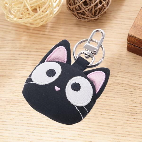 小黑貓 大頭造型 吊飾/鑰匙圈/包包掛飾【222777】
