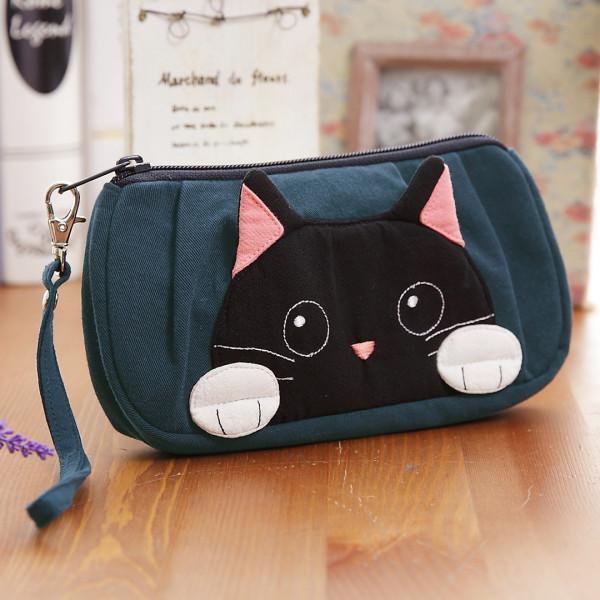 小黑貓 手提 小物收納/3C雜物包/化妝包【820005】