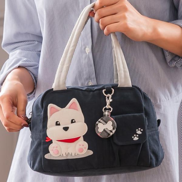 高地白梗狗狗休閒拼布包 手提包/野餐便當袋【810030】