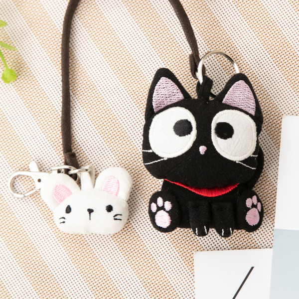 小黑貓 立體造型 掛繩 手鉤鑰匙圈吊飾/包包掛飾【222823】