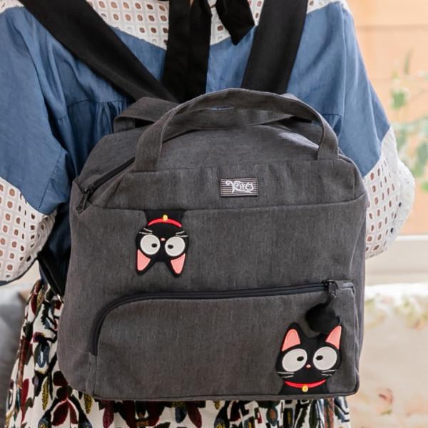 小黑貓 造型 拼布包 手提/後背/兩用包【211396】
