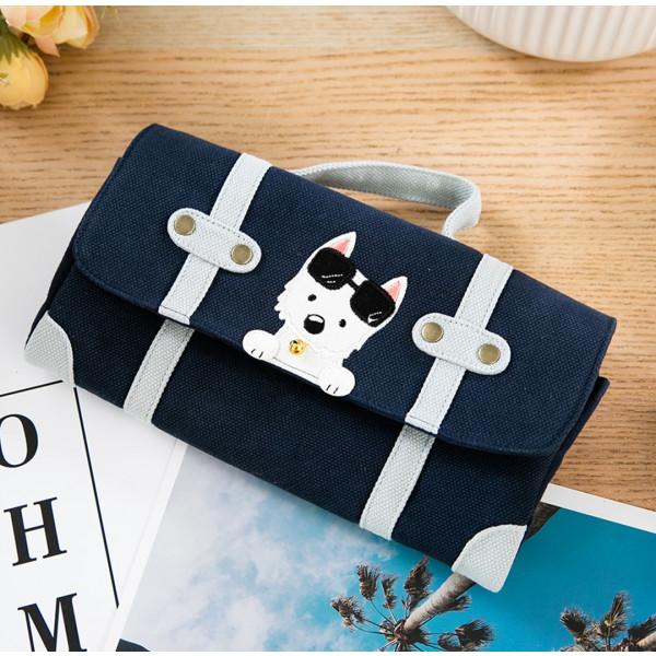 高地白梗 狗狗 行李箱造型 多卡層 長布夾【222899】