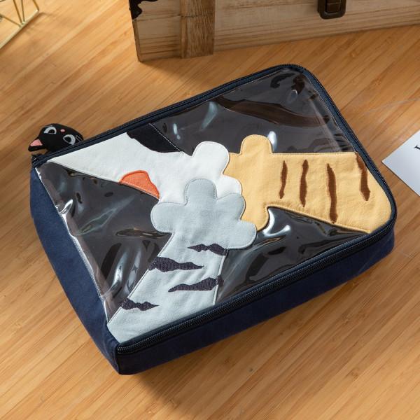 貓咪小手 透明視窗 拉鍊 旅行收納 手拿包/盥洗包【222928】
